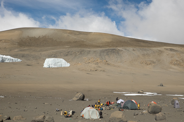 Crater Camp 18,800ft (5,734m)