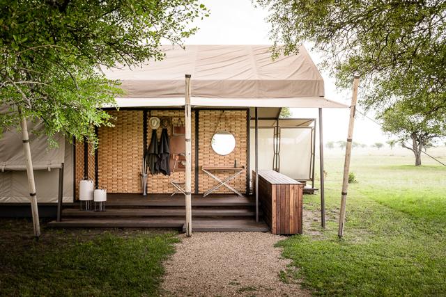 Tent exterior at Sabora