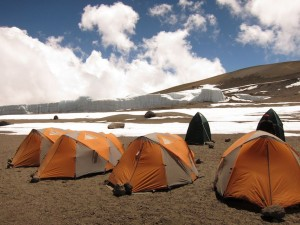 Our camp in Kibo Crater