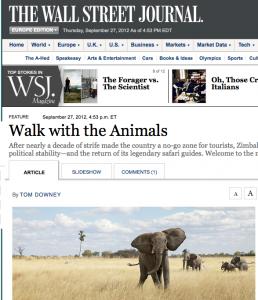 Wall Street Journal article Sept 2012