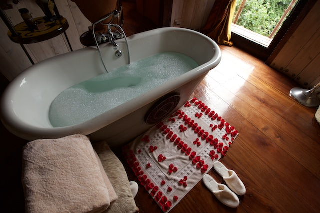 Ngorongoro Crater Lodge bathtub