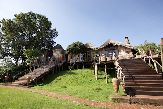 Ngorongoro Crater Lodge front view