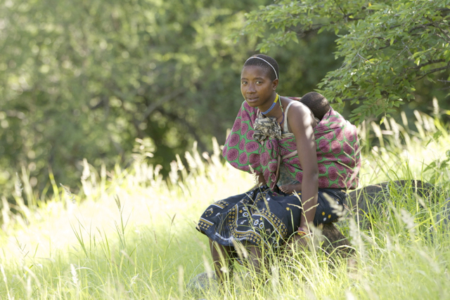 A Hadzabe Woman and Child.