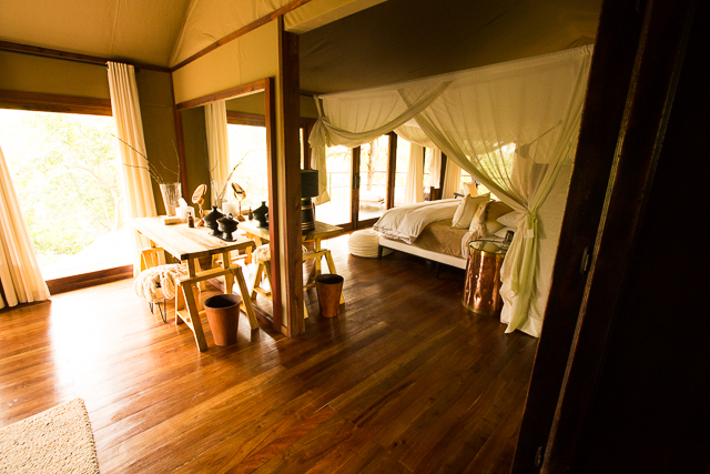 Mwiba Lodge tent interior