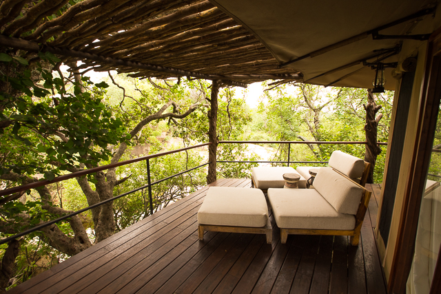 Mwiba Lodge tent veranda
