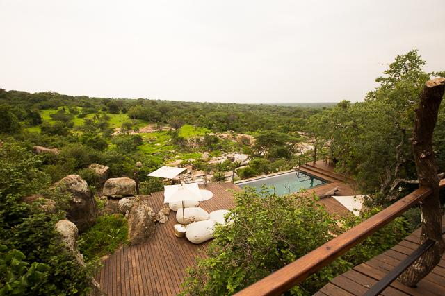 Mwiba Lodge swimming pool deck